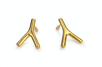 WAI Earrings - Silver gold plated matte earrings