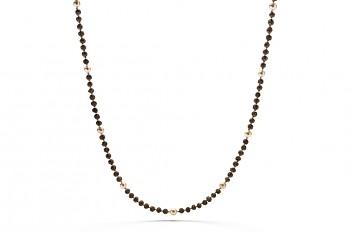 BHOGA - Stříbrná fashion mala, říční perla, semeno Rudraksha