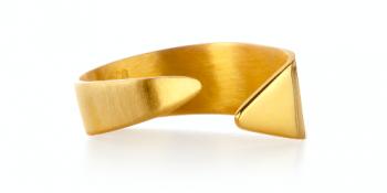 Element Ether Ring - stříbrný prsten pozlacený
