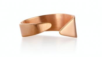 Element Ether Ring - stříbrný prsten pozlacený růžovým zlatem