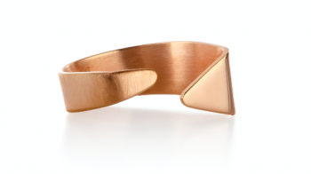 Element Ether Ring - rose gold plated silver ring