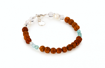 TARITATU - dedicated to the desire for BEAUTY, pearls, crystal, aquamarine, rudraksha and silver