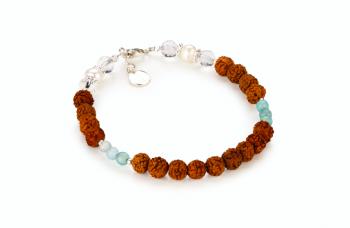 TARITATU - zasvěcen touze po KRÁSE, perly, křišťál, akvamarín, rudraksha a stříbro