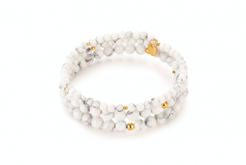 AGUNG - dedicated to the desire for HAPPINESS, magnesite and gold plated silver