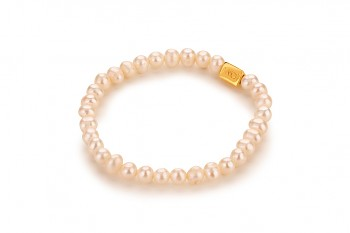 MUANA - dedicated to the desire for BEAUTY, pearl and gold plated silver