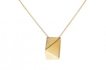 NOSHI Necklace - stříbrný náhrdelník pozlacený krátký