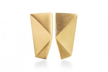 NOSHI Earrings - stříbrné náušnice, pozlacené