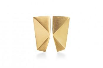 NOSHI MINI Earrings - stříbrné náušnice, pozlacené