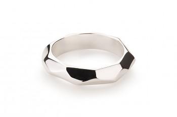 NOSHI Ring - stříbrný prsten, lesk