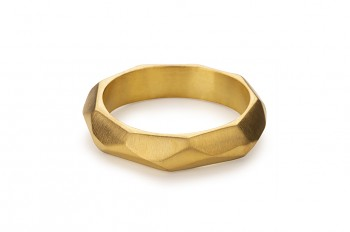NOSHI Ring - silver, gold plated, matte