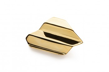 NAMI Brooche - silver, gold plated, glossy