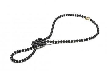 NIKÉ - Pozlacený náhrdelník, láva