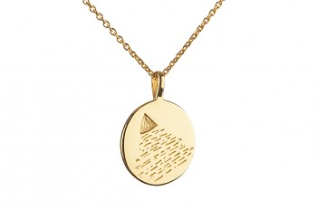 Long Element AIR Necklace - gold plated silver
