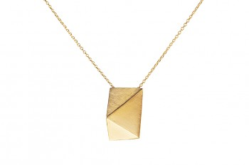 NOSHI Necklace - silver, gold plated, long