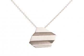 NAMI Necklace - silver, long, matte