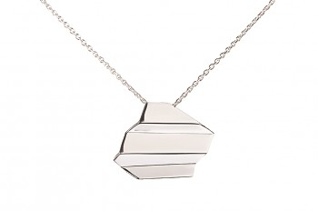 NAMI Necklace - silver, long, glossy