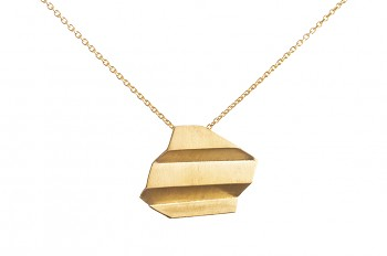 NAMI Necklace - silver, gold plated, long, matte