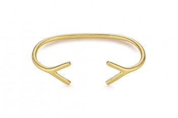 WAI Bracelet - Stříbrný náramek, pozlacení, mat