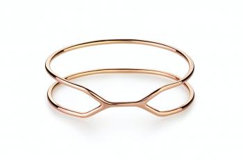 CUFF ALCATRAZ Bracelet - Stříbrný náramek, pozlacení růžovým zlatem