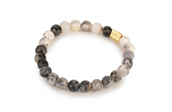 BALI - dedicated to the desire for HAPPINES, agate and gold plated silver