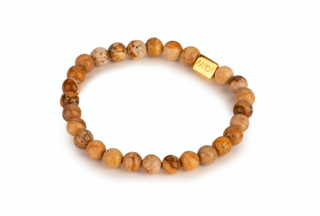LUMI - dedicated to the desire for LOVE, agate, jasper and gold plated silver