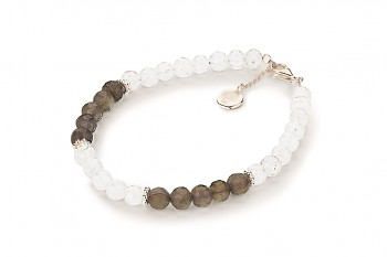 PALAWAN - dedicated to the desire for SERENITY, labradorite, rainbow moonstone and silver