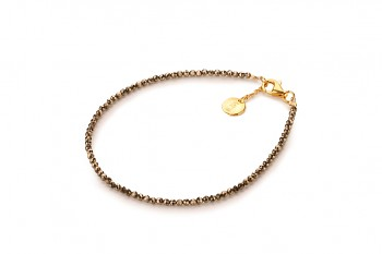 SUASA - dedicated to the desire for the INNER STRENGHT, pyrite and gold plated silver