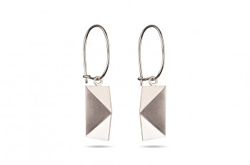 NOSHI Hanging Earrings - silver