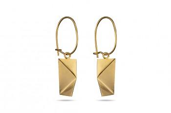NOSHI Hanging Earrings - stříbrné náušnice pozlacené