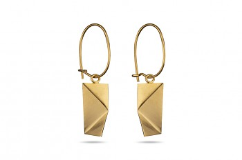 NOSHI Hanging Earrings - silver, goldplated