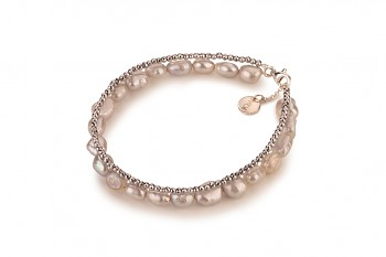 MANUI - dedicated to the desire for the INNER STRENGTH, pyrite, baroque pearl and silver