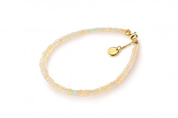 BANDA - dedicated to the desire for DECISION, opal and gold plated silver