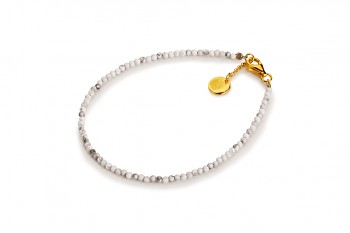 AIR - dedicated to the desire for HAPPINESS, magnesite and gold plated silver