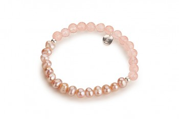 LICHI - dedicated to the desire for LOVE, rose quartz, rose pearl and silver
