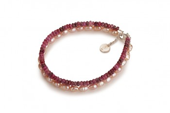PANTAI - dedicated to the desire for DECISION, ruby, rose pearls and silver