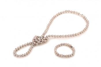 ALIANA Set - zasvěcen touze po KRÁSE, barokní perla a stříbro