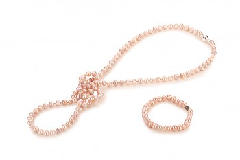 NONA set - dedicated to the desire for BEAUTY, rose pearl and silver