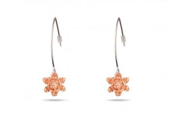 MANI PADMA - růžovým zlatem pozlacené náušnice, malý lotos