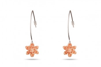 MANI PADMA - Rose gold plated earrings, small lotus