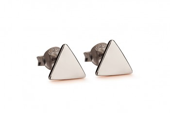 Element FIRE earrings - silver, black rhodium plating