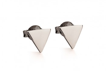 Element WATER earrings - silver, black rhodium plating