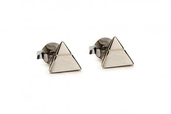 Element AIR earrings - silver, black rhodium plating