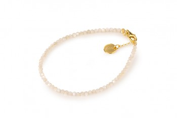 MOTHER OF PEARL - dedicated to the desire for BEAUTY, nacre and gold plated silver