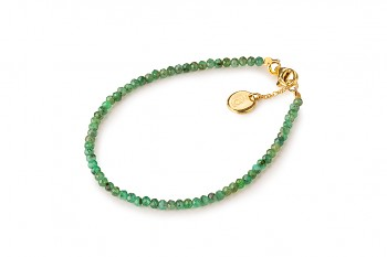 RATU EMERALD - dedicated to the desire for DECISION, emerald and gold plated silver