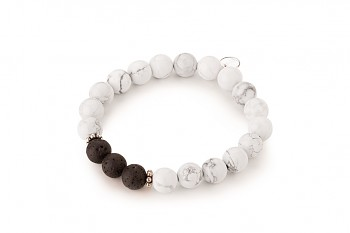 DHÓ - dedicated to the desire for the INNER STRENGTH, magnesite, lava and silver
