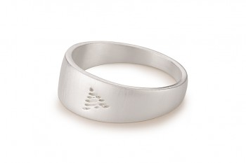 Element FIRE - silver ring, matte