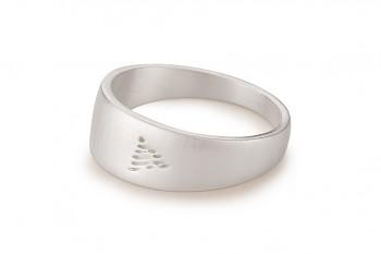 Element OHEŇ - stříbrný prsten, mat
