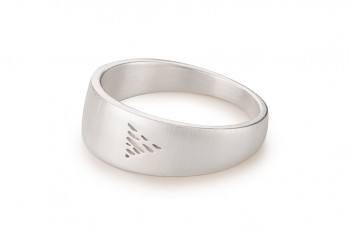 Element WATER - silver ring, matte