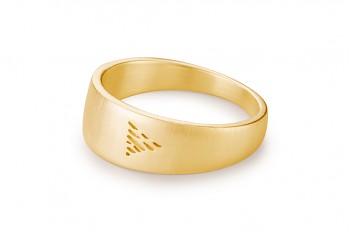 Element WATER - silver gold plated ring, matte
