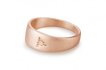 Element FIRE - silver rose gold plated ring, matte